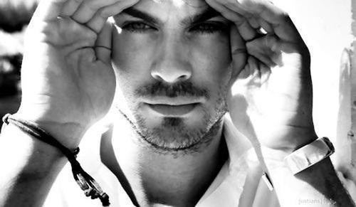 b&amp;w, celebrity, damon salvatore, dimon, girl