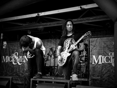 band, black and white, hardcore, music, of mice and men