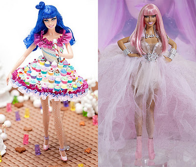 barbie doll, celebrities, celebrities dolls, celebs, cupcake