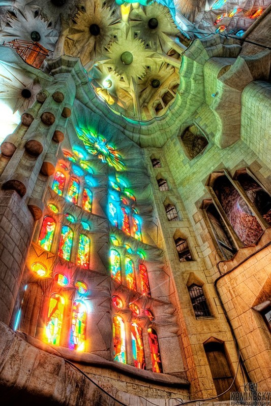 barcelona, cathedral, church, gaudi, sagrada familia