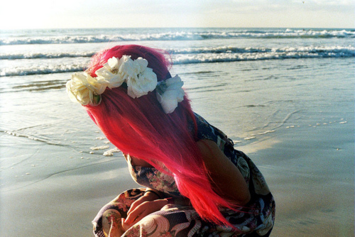 beach, beautiful, girl, hair, ocean