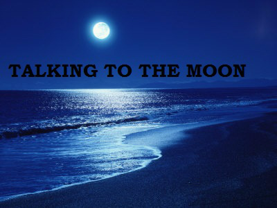 beach, beautiful, moon, night, talking to the moon, vintage