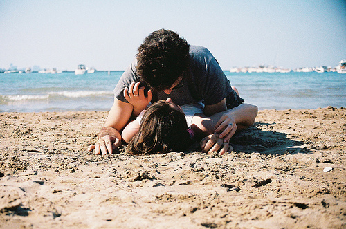 beach, boy, couple, girl, kiss