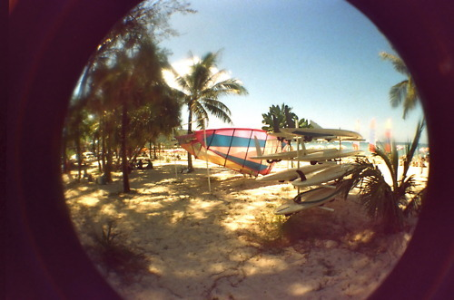 beach, film, fisheye, lomo, lomography, sea, summer, thailand, windsurfing