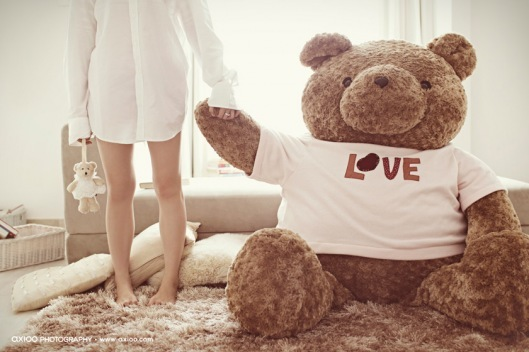 bear, doll, girl, love, photography
