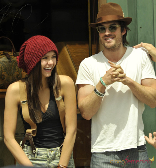 beard, cpuple, cute couple, damon salvatore, elena gilbert