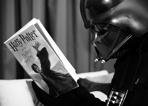 beautiful, black and white, book, boy, crazy, cute, darth vader, fun, funny, guy, handsome, happy, harry, man, photo, photograph, photography, potter, star wars