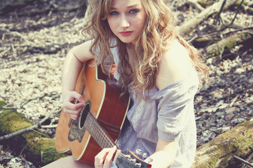 beautiful, blond, blonde, blue eyes, cool, curl, curls, curly, cute, cutie, eyes, fashion, fun, girl, gorgeous, guitar, hair, happy, hipster, lips, nice, photo, photography, pretty, red lips, vintage, wavy