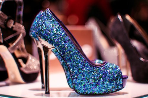 beautiful, blue, fashion, heels, high