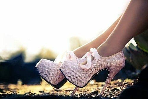 beautiful, bow, fashion, heels, pink, shoes