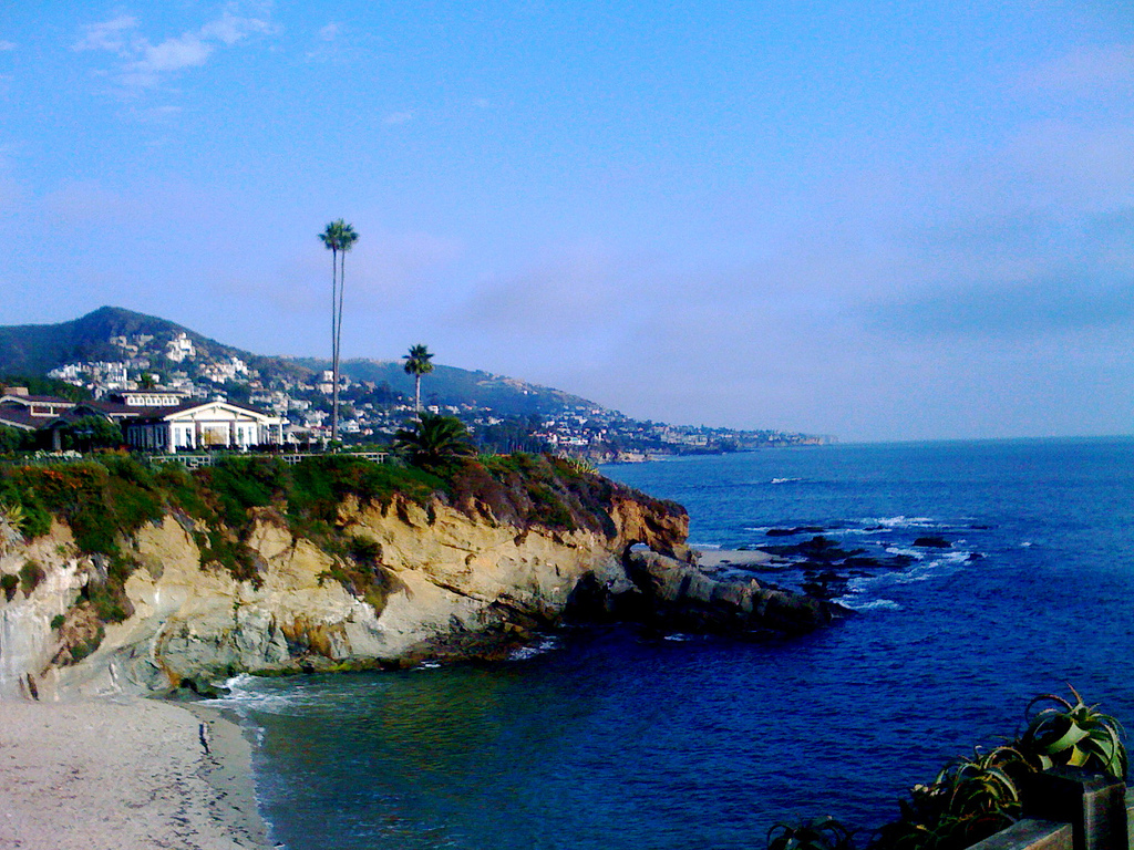 beautiful, california, cliffs, laguna beach, mountains