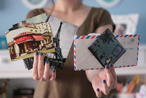beautiful, cards, cute, eiffel tower, envelopes, girl, letters, mail, nails, paris, photography, photos, places, pretty, travelling