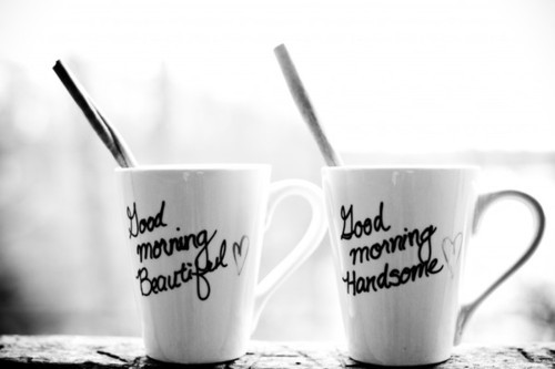 beautiful, coffee, cute, good morning, handsome