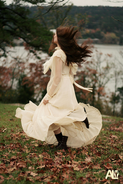 beautiful, cream, dance, dress, fashion