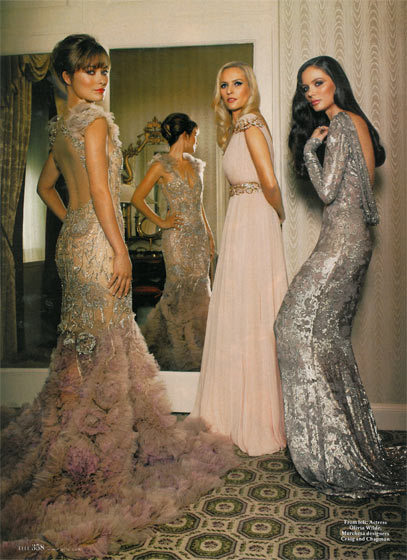 beautiful, dresses, fashion, girls, marchesa, models, pretty, style, vintage