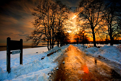 beautiful, snow, sunrise, sunset, winter