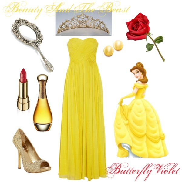 beauty and the beast, disney, polyvore, princess