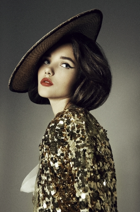 beauty, chinese, couture, eyes, fashion, girl, girls, glitter, gold, golden, hat, lips, model, models, night, party, photography, photoshoot, pretty, red lip, red lips, redlips, short hair, sparkles, style, vogue, white