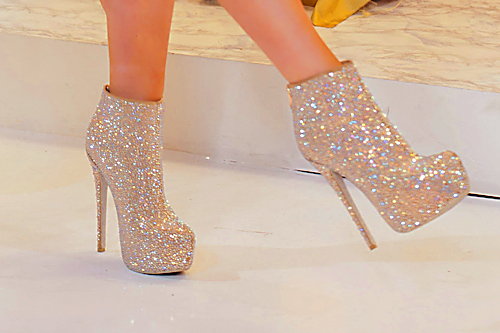beauty, crush, crystal heels, fashion, glitter