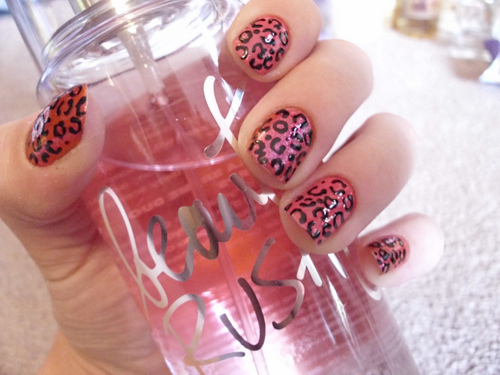 beauty rush, cheetah, cute, fashion, nails