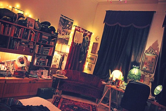 bedroom, lights, livingroom, retro