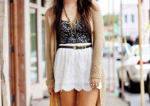 belt, brunette, cardigan, fashion, fashionista, girl, lovely, outfit, pink, ring, shorts, style, stylish, sweater, vute, white