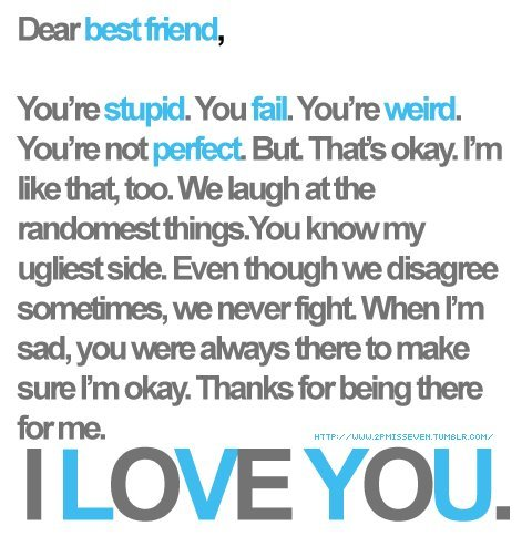 best friend, friendship, i love you, text
