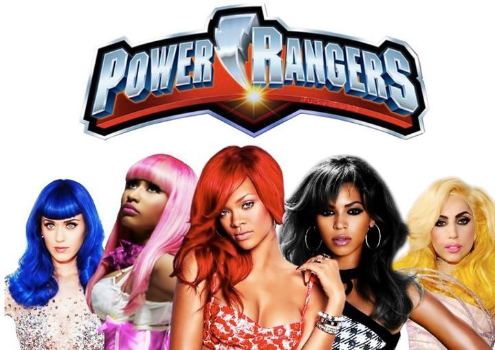 beyonce, katy perry, lady gaga, nicki minaj, power rangers