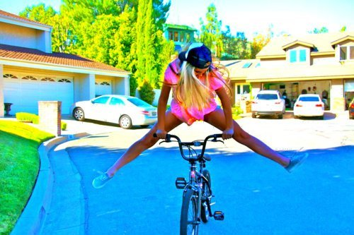 biela, bike, crazy, cute, fashion
