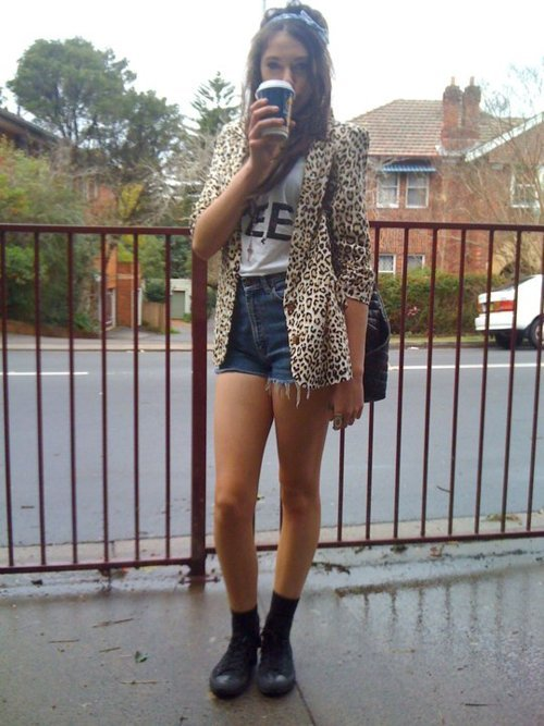 biela, girl, leopardo, photography, shorts