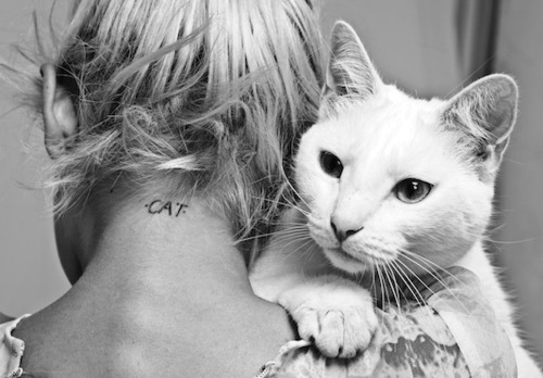 Black and white cat girl nice tattoo image 313426 for Cat lady tattoo
