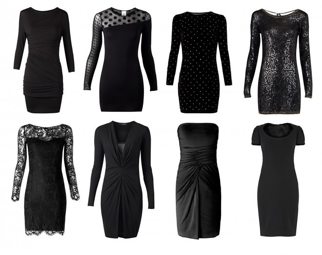black, black dress, black is the new black, clothes, dots