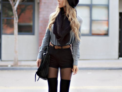 black, blond, blonde, fashion, outfit, street chic, street style, streetsyle, tights