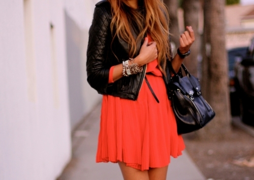 black, fashion, inspiration, orange, outfit