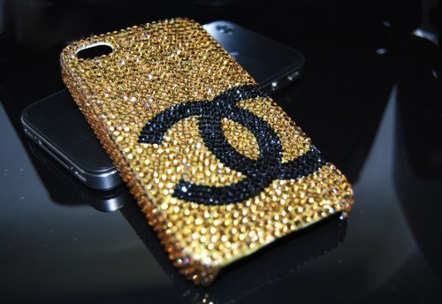 bling, chanel, cute, girly, i phone, kollada, phone, pretty, technology