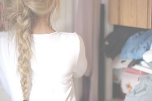 blond, braid, girl, hair, hairstyle