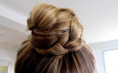 blond hair, bun, fashion, girl, hair