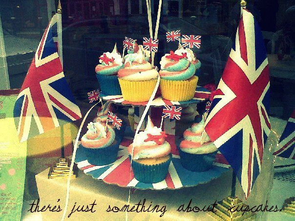 blue, britain, britannia, colour, cupcakes, england, flag, great britain, red white and blue, rewd, union jack, white
