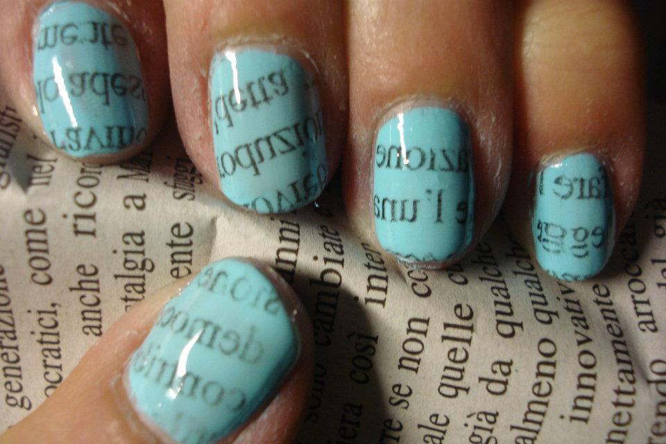 blue, magazine, nails, newspaper