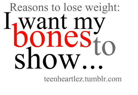 bones, lose weight, motivation, reasons, show
