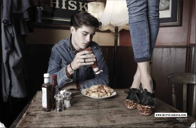 bored, diner, fracisco lachowski, francisco, ketchup, lachowski, legs, table