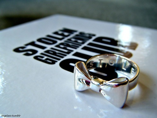 bow, bow ring, designer, fashion, girly