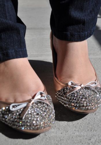 bow, cute, fashion, flats, shoes, sparkly