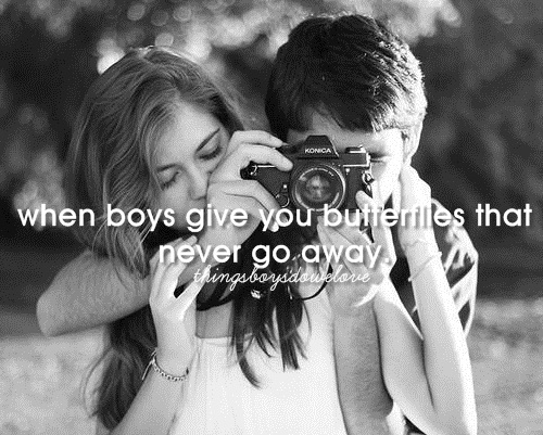 boys, butterflies, couple, cute, girls