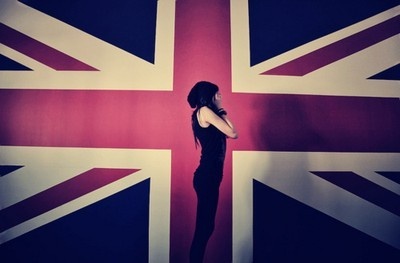 british flag, cool, england, flag, girl