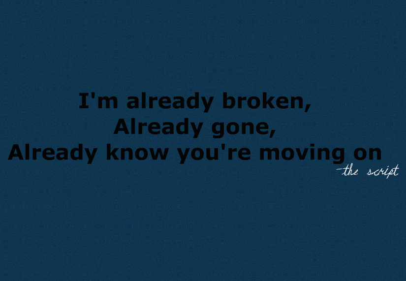 broken, dead man walking, lyrics, text, the script