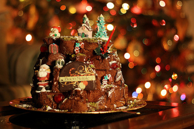brown, cake, chocolate, christmas, cute