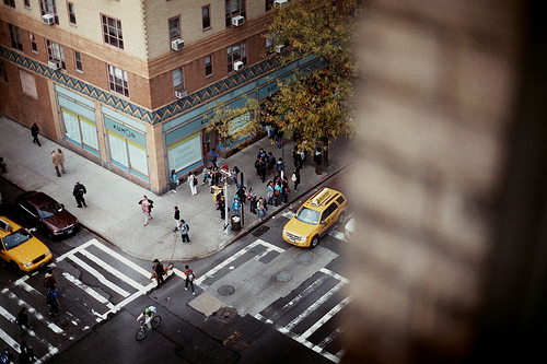 cab, new york, new york city, nyc, photo, street, taxi, view