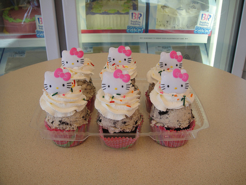 candy, chocolate, cupcake, delicious, dessert, food, hello kitty, sweet