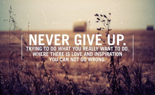 cannot*, give, give up, inspiration, love